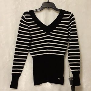 GUESS black  and white blouse
